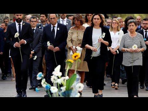 يورو نيوز:إسبانيا تحيي الذكرى السنوية الأولى لهجمات برشلونة