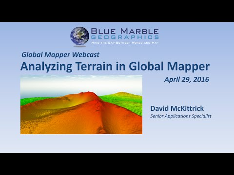Analyzing Terrain in Global Mapper