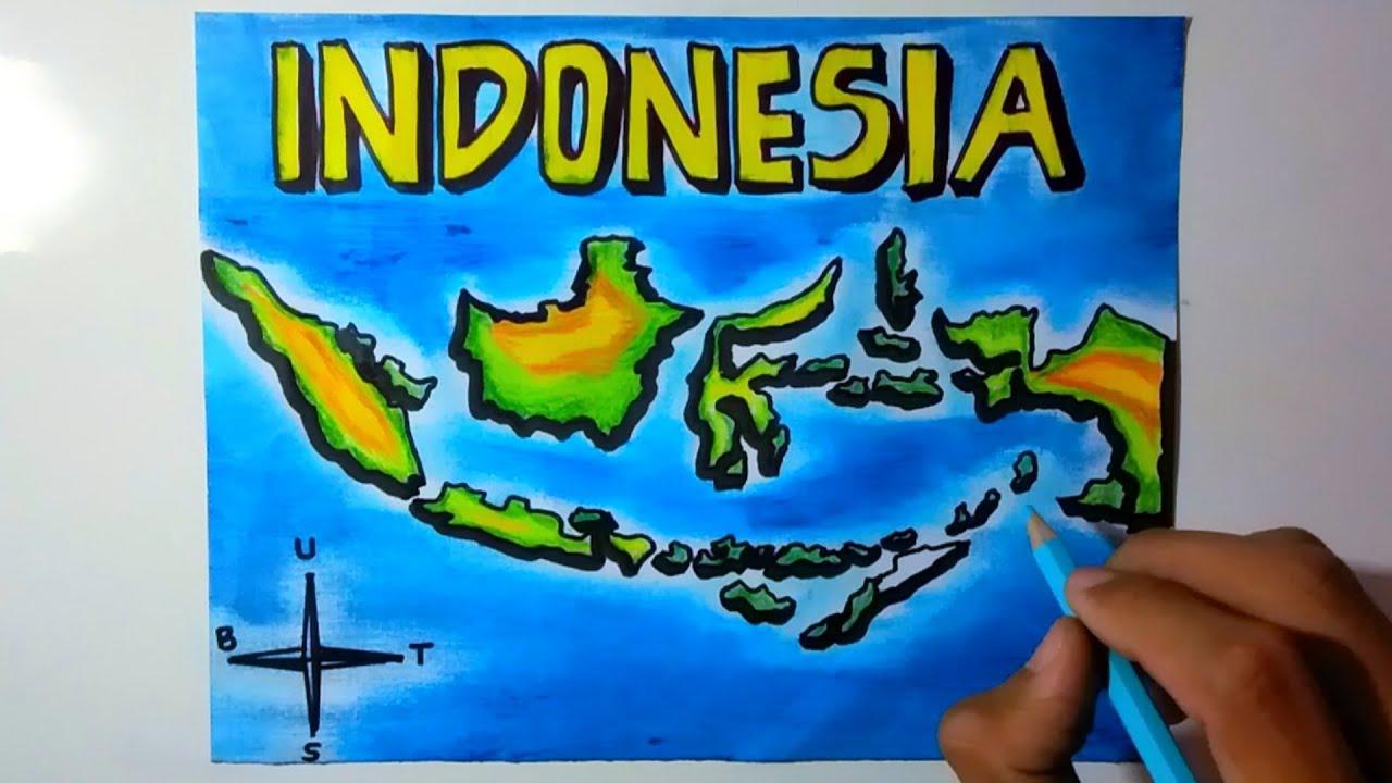 Peta samudera skala 1:600.000 atau lebih kecil dipakai untuk penyeberangan samudera. Menggambar Peta Indonesia Gambar Peta Indonesia Lengkap Youtube