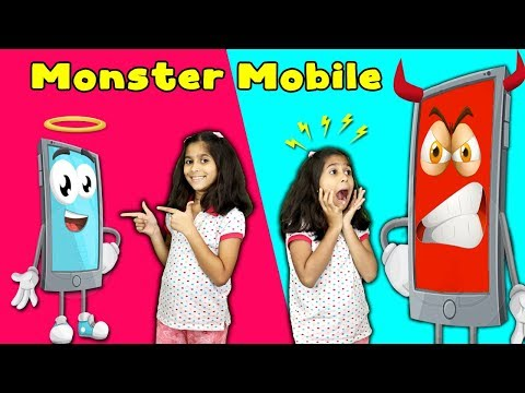 Pari's Mobile Become Monster | Kids Playing Mobile Games (Moral Story) | Pari's Lifestyle