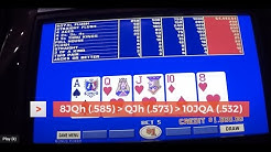 $1 Bonus Poker PROGRESSIVE video poker - with 4OAK