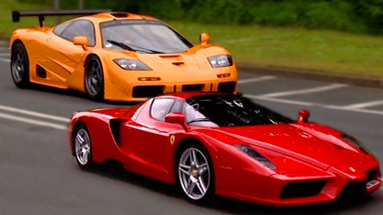 ferrari enzo vs mclaren f1 fifth gear youtube. Black Bedroom Furniture Sets. Home Design Ideas