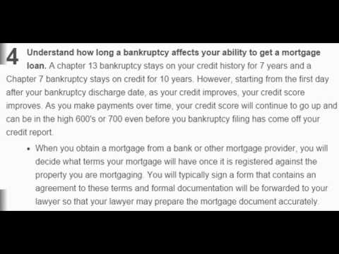 How to Re apply for a Mortgage After Bankruptcy?