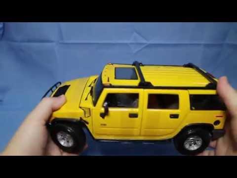 2003 Hummer H2 SUV w// Sunroof Yellow Maisto 31231 1//27 Scale Diecast Car