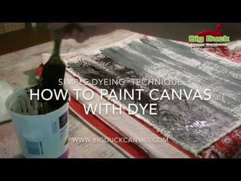 Using Dye Paste to Dye JUST ONE SIDE of Cotton Canvas or print with dye