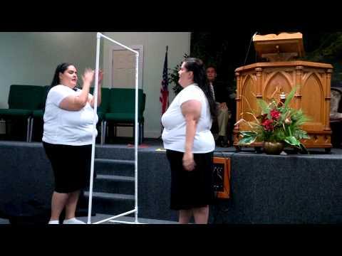Mi espejo y yo, pantomima - Fosforito
