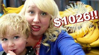 WE'RE GOING BANANAS 🍌LARGE FAMILY GROCERY HAUL COSTCO + WALMART