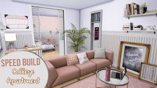 The Sims 4 Speed Build | MINIMALIST COLLEGE APARTMENT + CC Links & Download