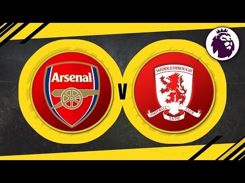 MATCH DAY LIVE 2016/17 - Arsenal v Middlesbrough // Premier League