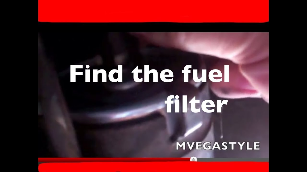 where is the fuel filter for a 1999 ford taurus [ 1280 x 720 Pixel ]
