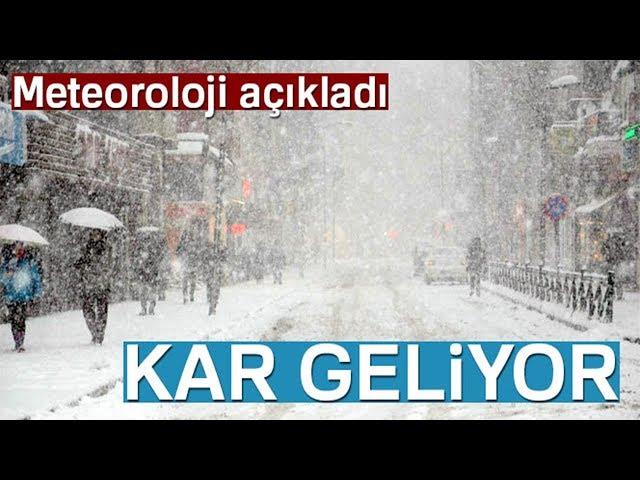 Meteoroloji Duyurdu: Kar Geliyor...