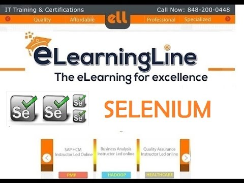 Selenium tutorial for beginner from ELearningLine.com @ 848-200-0448