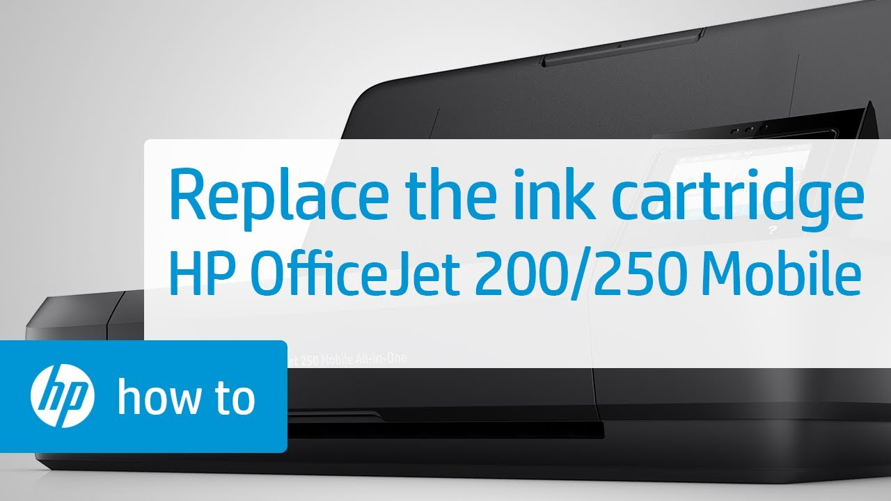 Replacing an Ink Cartridge on HP OfficeJet 200 and 250 Mobile Printers | HP  OfficeJet | HP