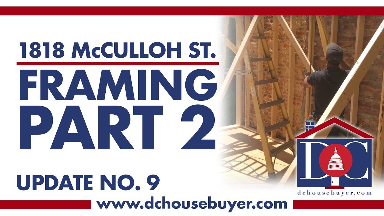 1818 McCulloh St. - Update No. 9 - Framing Part 2