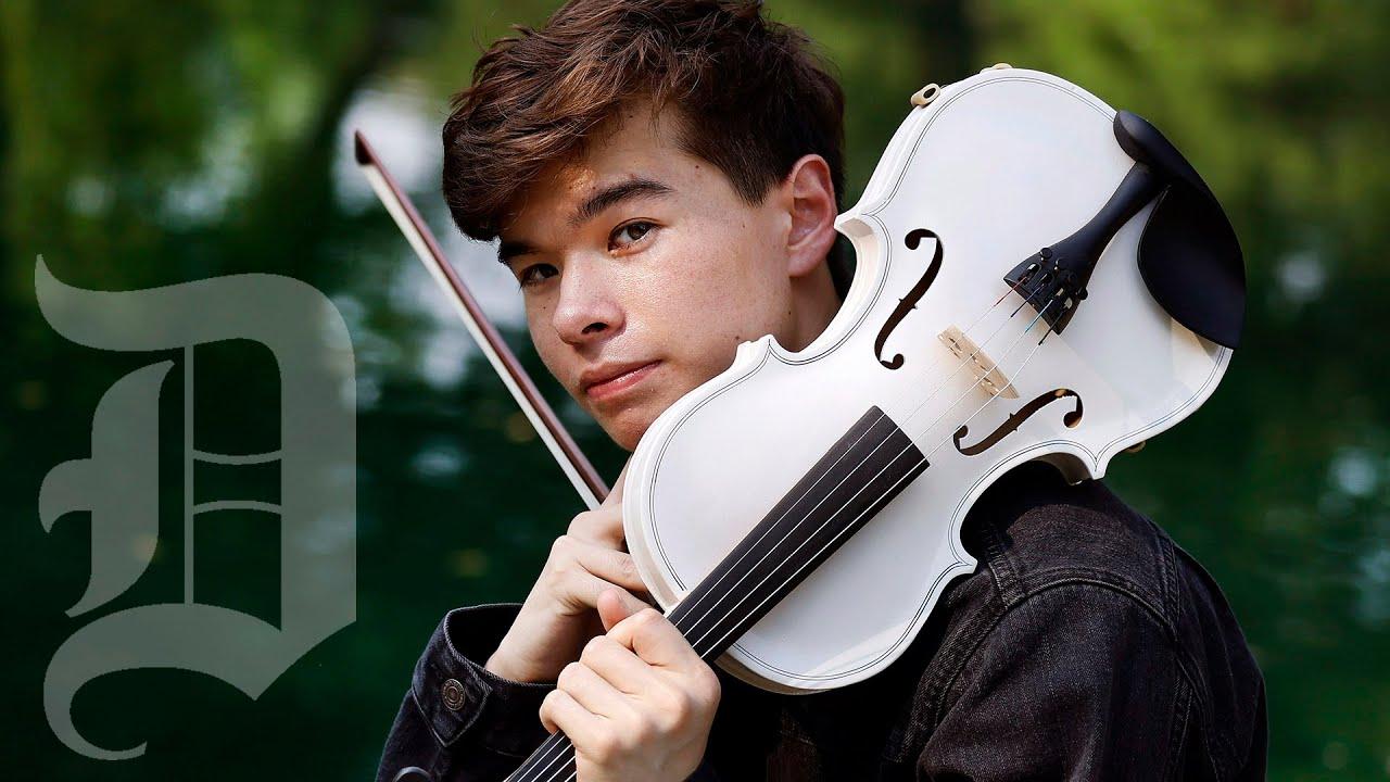 Plano contemporary violinist Alan Milan performs Seniorita