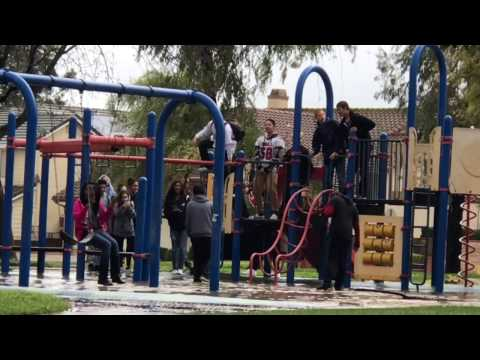 California Students Play In The Rain
