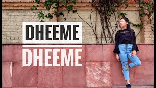 Dheeme Dheeme | Neha Kakkar | Dance cover | Prachi Verma | Shuffling | ft. UPTOWNIE