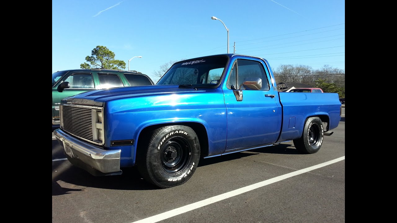 87 chevy truck project update flowmaster exhaust sound 20 december 2013 youtube