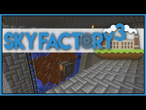 Immersive Engineering Water Wheel - Minecraft Skyfactory 3 - Ep 21 [Let's Play Sky Factory 3]