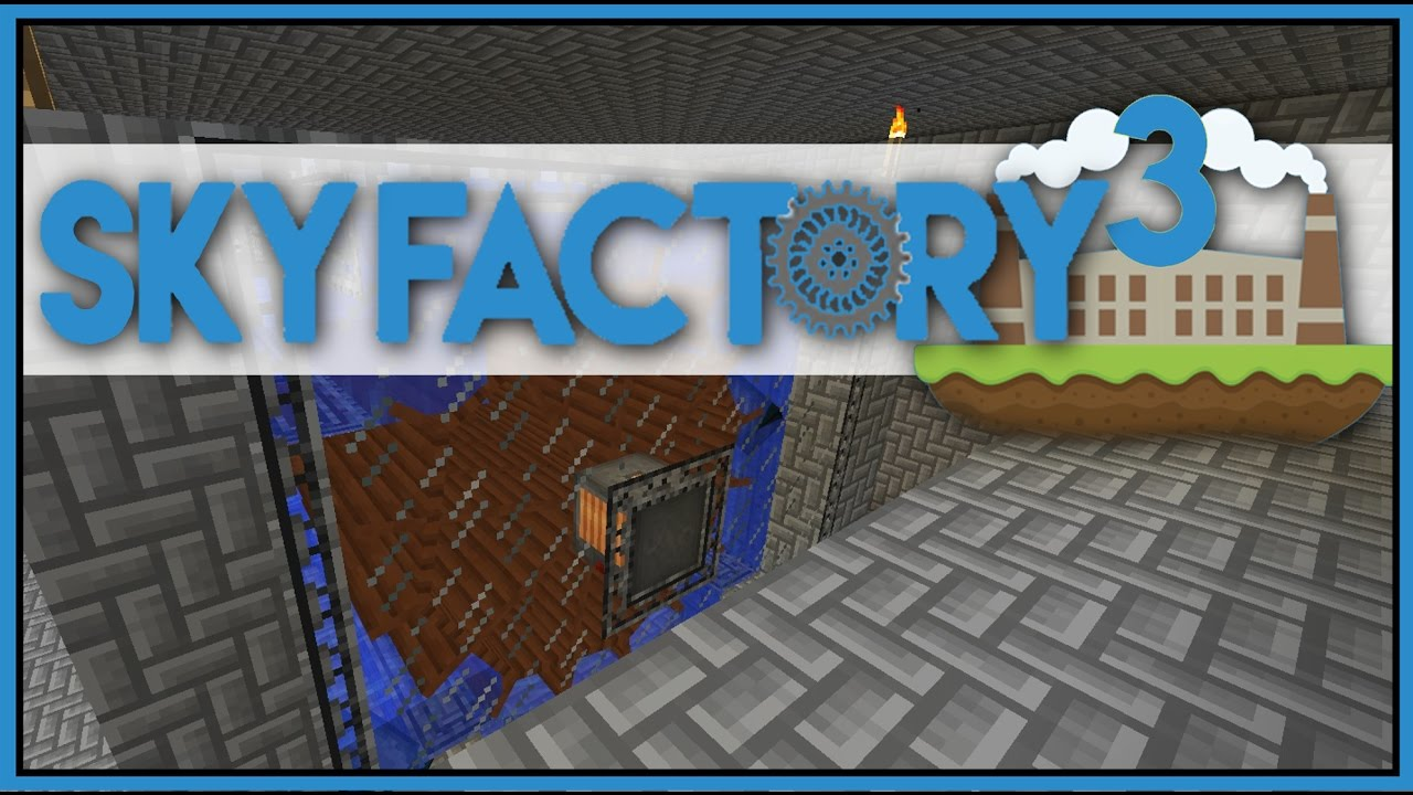 Immersive Engineering Water Wheel - Minecraft Skyfactory 3 - Ep 21 [Let's  Play Sky Factory 3]
