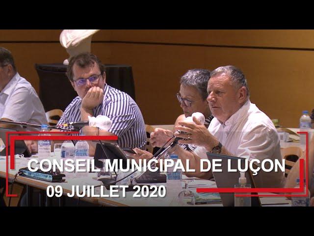 Conseil municipal de Luçon du 9 juillet 2020