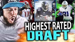 HIGHEST RATED DRAFT!! MADDEN 18 DRAFT CHAMPIONS GAMEPLAY