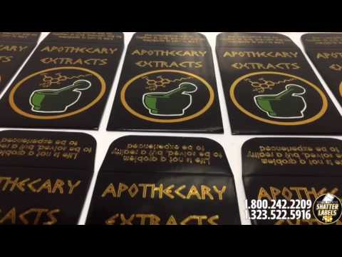 Apothecary Extracts - Shatter BHO Custom Envelopes by