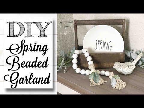 DIY Spring Farmhouse Beaded Garland