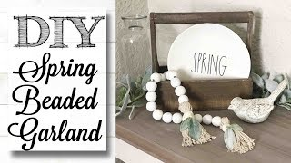 DIY Spring Farmhouse Beaded Garland