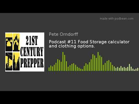 Podcast 11 Food Storage Calculator And Clothing Options Youtube