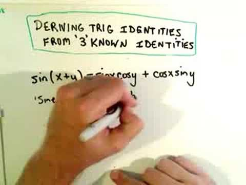Deriving Trigonometric Identies from Known Identities