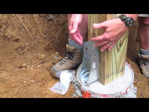 DIY Shed AsktheBuilder How to Install a Wood Post Hold Down Anchor