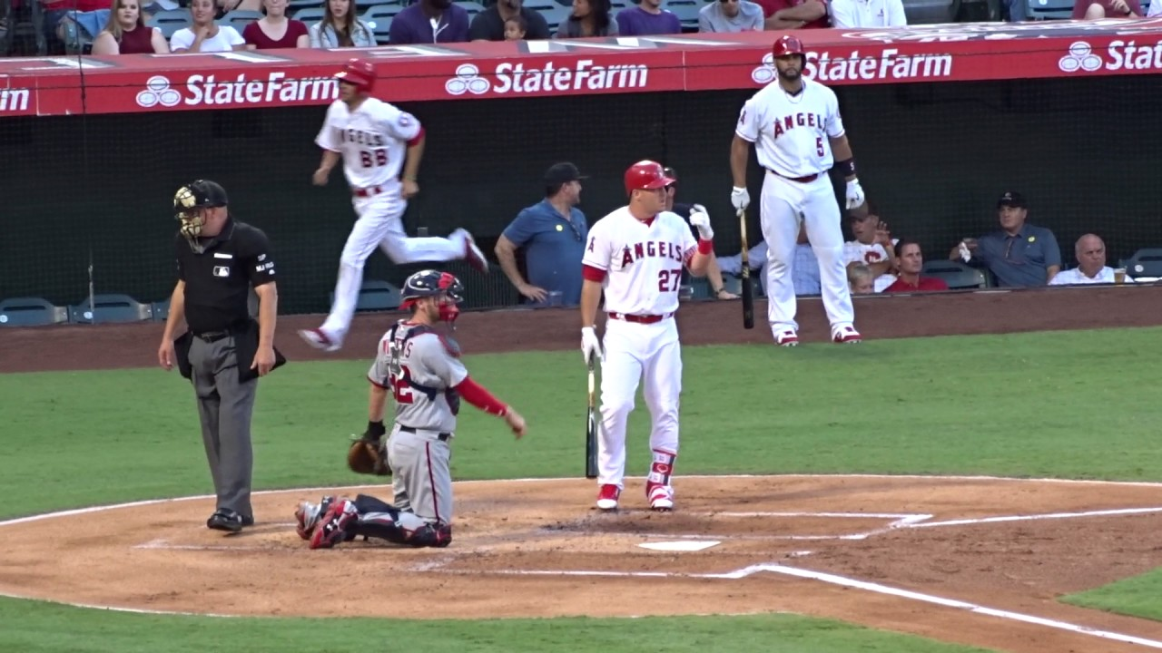 Mike Trouts 448 Ft Home Run Entire At Bat July 18 2017