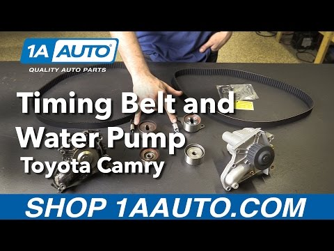 How to Replace Install Timing Belt and Water Pump 1992-01 Toyota Camry