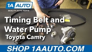How to Replace Timing Belt and Water Pump 92-01 Toyota Camry