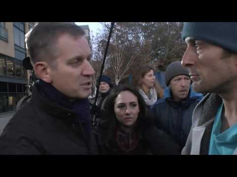 Hull Tent City || Homeless Protester Confronts Jeremy Kyle