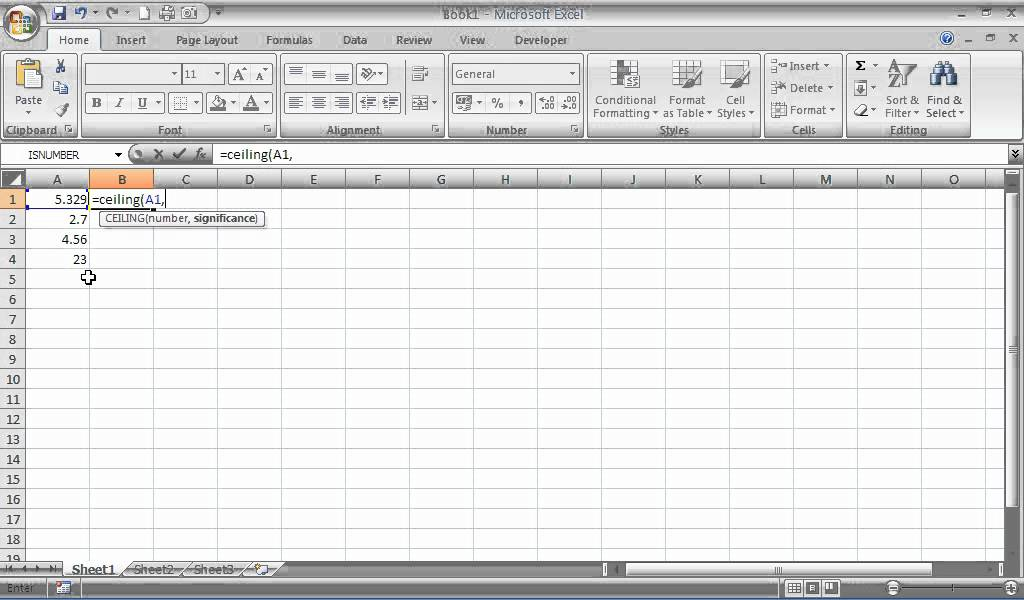 How To Use The Ceiling Function In Excel