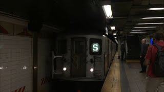 NYC Subway: IRT R62A (S) Shuttle @ 42nd Street-Grand Central/Times Square (HD 60FPS)