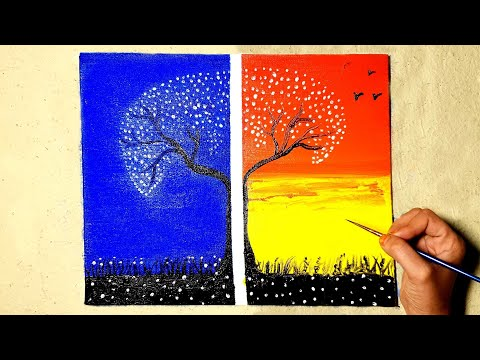 Light After Darkness Painting | Step By Step Acrylic Painting for Beginners | Canvas Painting
