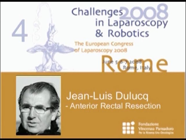 CILR 2008 - Jean-Louis Dulucq - Anterior rectal resection