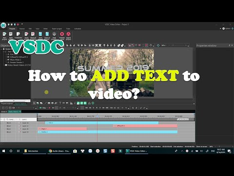 How to Add Text Into Video Using VSDC Free Video Editor