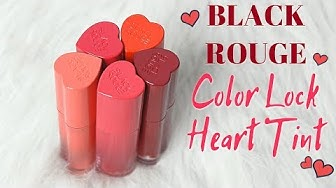 BIYW Review Chapter: #203 BLACK ROUGE COLOR LOCK HEART TINT SWATCH & REVIEW