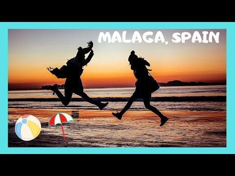 The beautiful BEACH of MALAGA, SPAIN