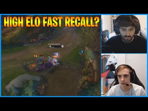 Yassuo Shows Jungler Fast Recall Trick...LoL Daily Moments Ep 1044