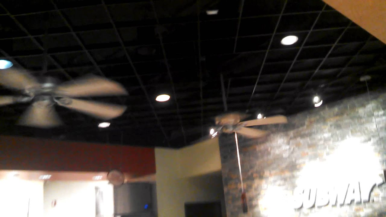 Hunter ceiling fans in a subway restaurant in new orleans airport hunter ceiling fans in a subway restaurant in new orleans airport aloadofball Image collections