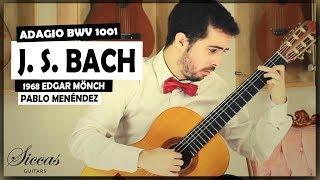 Pablo Menéndez plays BACH - Adagio BWV 1001 on a 1968 Edgar Mönch classical guitar