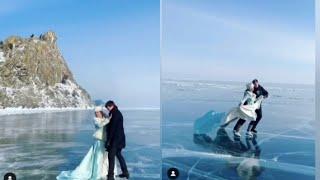 Александр Энберт с ЖЕНОЙ катается на коньках на Байкале