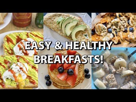 5 HEALTHY BREAKFASTS // under 500 calories + vegan options!