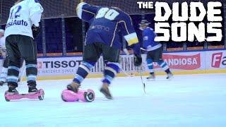 Hoverboard Ice Hockey Challenge - Jarppi vs HP - The Dudesons