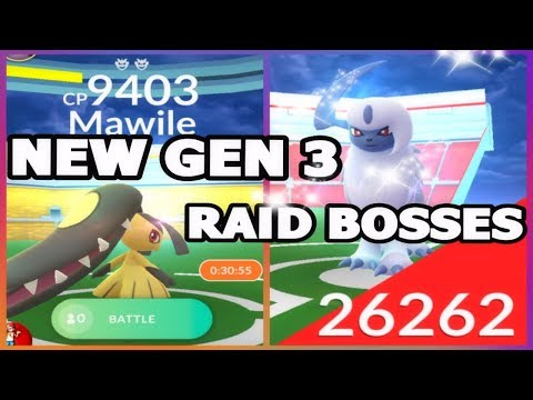Download Youtube: POKEMON GO NEW GEN 3 RAIDS MAWILE & ABSOL RAID BOSSES | GEN 3 SHINY IN GAME